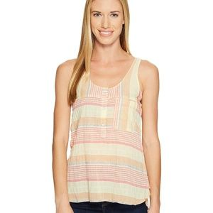 Woolrich Spring Fever Tank Top Striped Yellow XL